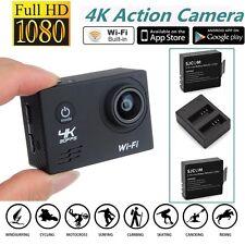 SJ8000 HD 4K@30fps Sony IMX179 WiFi Casque Caméra d'Action+Chargeur Batterie Kit