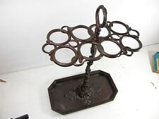 ANTIQUE CASR IRON UMBRELLA STAND WITH ENTWINED SNAKES C 1860'S