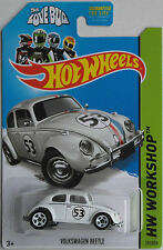 "Hot Wheels - VW Käfer weiß ""53 - Herbie, The Love Bug"" Neu/OVP US-Card"