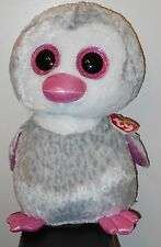"Ty 16"" LARGE / JUMBO Beanie Boos ~ OLIVE  the Penguin ~ Claires Exclusive ~ NEW"