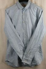 MENS BURBERRY LT BLUE SHIRT SZ M BUTTONS ARE MOTHER OF PEARL BRAND NEW $335