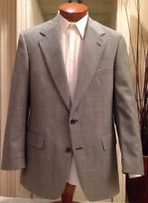 Brooks Brothers Mens Wool  Houndstooth Suit Mens Size 40 41 42 R MINT!