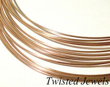1Ft 14 GA 14K Rose Gold-Filled ROUND Dead Soft Jewelry USA Wire Design Gauge G