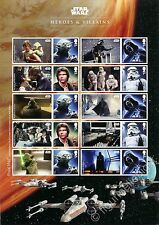 Star Wars - Heroes & Villains - A4 Collector Sheet ESAURITO Gran Bretagna 2015