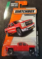 Matchbox Red 2014 Chevy Silverado 1500 with Hot Wheels Real Riders