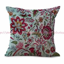 US SELLER-wholesale throw pillow covers retro flower cushion cover