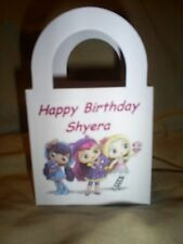 LITTLE CHARMERS Personalized Birthday Party 12 Favor Boxes / goody bags