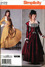 SIMPLICITY SEWING PATTERN 2172 MISSES SZ 6-12 VICTORIAN ERA STEAMPUNK COSTUME