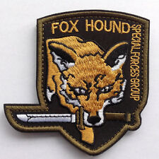 Metal Gear Solid Fox hound TACTICAL ARMY MORALE Hook &Loop EMROIDER PATCH YELOW