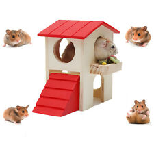 Hamster Pet Small Animal Rabbit Mouse Ladder Hideout Cage Home Nest Exercise Toy