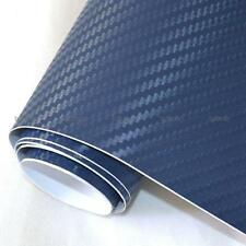 3D Carbon Fiber Design Vinyl Film for Decal DARK BLUE Size 24 x 12 Inches