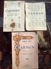 1900 LOTTO DI 3 LIBRETTI D'OPERA DELLA 'CARMEN' DI BIZET IN EDIZIONI DIVERSE
