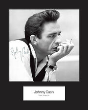 JOHNNY CASH #1 10x8 SIGNED Mounted Photo Print - FREE DELIVERY