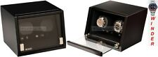 Luxury Display Dual Automatic Watch Winder model:Castle-02MB /LED Lights