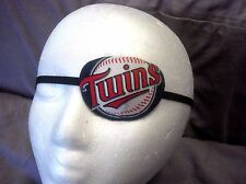 Adult unisex handmade eye patch with a Minnesota Twins theme - one size fits all