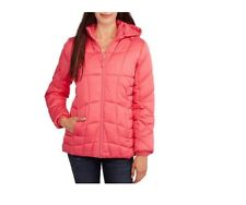 Faded Glory Women's Hooded Puffer Jacket Coat, 4X, Peach Glow