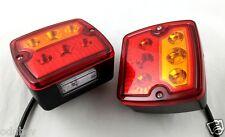2x LED Feux Arrière w/plaque immatriculation caravane camping car caravane