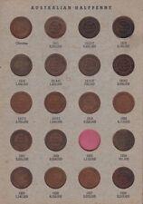Half Penny Set Australia inc varieties no 1923 one  B-245