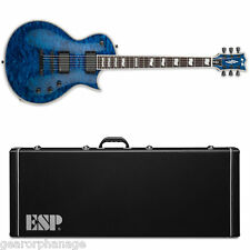ESP E-II ECLIPSE QM Marine Blue MARBL Electric Guitar NEW w/ FREE Hardshell Case