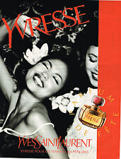 PUBLICITE ADVERTISING 114  1996  YVES SAINT LAURENT parfum YVRESSE femme