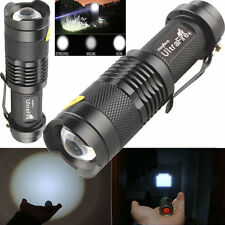 2pcs 1600lm Zoomable CREE XM-L T6 LED Flashlight Torch Light Small flashlight