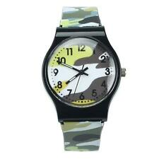 Camouflage Children Watch Silicone Sports Analog Quartz Wristwatch For Girls Boy