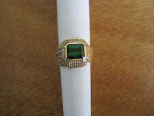 #150 ladys 14K gold chrome tourmaline 49 diamond ring