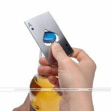 Ace Of Spade Card Beer Bottle Opener Stainless Steel Metal Fit in Wallet Gift
