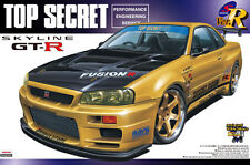 AOSHIMA 1/24 SCALE-TOP SECRET SKYLINE R34 GT-R PLASTIC MODEL KIT * NEW STOCK*