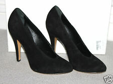 NEW CASADEI BLACK SUEDE LEATHER PUMPS SHOES 36