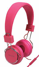 SoundLAB Leisure & Gym High Peformance Stereo Headphones with Microphone - Pink