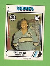 1976 SCANLENS  RUGBY LEAGUE CARD  #39  ERIC ARCHER, CRONULLA SHARKS