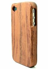 IPHONE 4/4S ROSE WOOD CASE REAL NATURAL WOOD HAND MADE GENUINE WOOD COVER