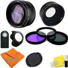 WIDE ANGLE LENS + ZOOM LENS + REMOTE + FILTERS FOR CANON REBEL 6D 7D T5I 7