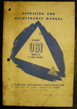 Clearing 75 Ton OBI Operation, Schematics, Setup Installation and Service Manual