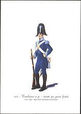 STAMPA UNIFORMI STORICHE - CARABINIERE A. P. - TENUTA GIORNI FESTIVI - 1814