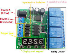 5v 9v 12v 24v DC 4-channel multifunction delay relay LED clock time timer relays