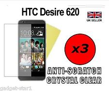 3x HQ CRYSTAL CLEAR SCREEN PROTECTOR COVER SAVER FILM GUARD FOR HTC DESIRE 620