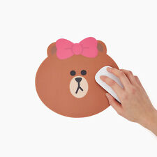 Korea LINE Friends Cute Brown Sister Choco Face Mouse Pad Mascot Gift