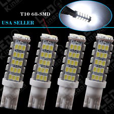 4X HID White Wedge T10 68-SMD Backup Reverse LED Light bulb W5W 194 168 921 2825