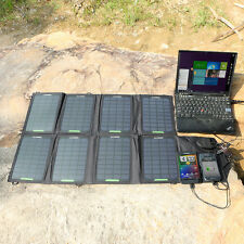 18V 28W Solar Panel Foldable Charger Backup for Laptops Galaxy S6 5V USB Devices