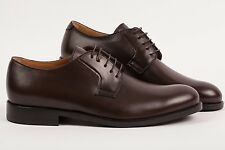 "DI MELLA NAPOLI Derby Shoes Chocolate ""Fatte a mano"" Made in Italy 9US 8UK"