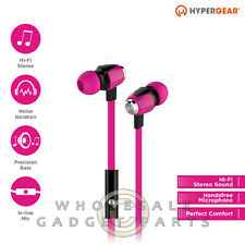 Naztech HyperGear dBm Wave 3.5mm Earphones w/Mic - Pink Loud Audio Hear Sound