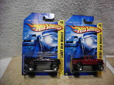 Hot Wheels 2007 New Models Dodge Ram 1500 4x4 Maroon and Purple lot of 2