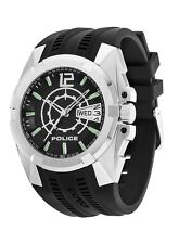 Police Men's PL-12154JS/02 Radical Black Rubber Big Date Watch