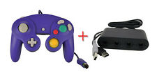 New Sealed Purple GameCube Controller+  Nintendo Wii U Adapter Smash Bros