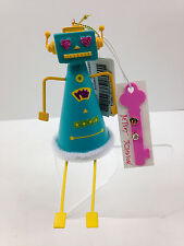 NWT Betsey Johnson Christmas Ornament with Stud Earrings Blue Robot FREE SHIP
