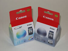 Canon OEM PG210 black CL211 color ink 210 MP270 MP280 MP490 MP250 iP2702 MP230