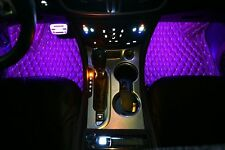 2x 7 Colour For Chevy Soft Car Interior Footwell Dash Glow Lamp Floor LED Light