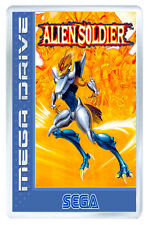 ALIEN SOLDIER MEGA DRIVE FRIDGE MAGNET IMAN NEVERA